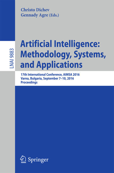 Artificial Intelligence: Methodology, Systems, and Applications - Coverbild