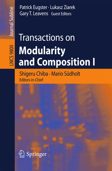 Transactions on Modularity and Composition I - Coverbild