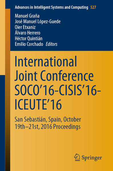 International Joint Conference SOCO'16-CISIS'16-ICEUTE'16 - Coverbild