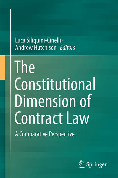 The Constitutional Dimension of Contract Law - Coverbild