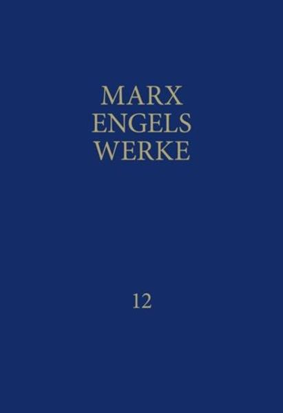 MEW / Marx-Engels-Werke Band 12 - Coverbild