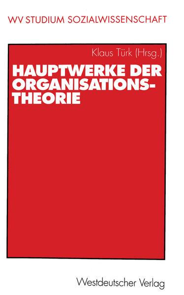 Hauptwerke der Organisationstheorie - Coverbild