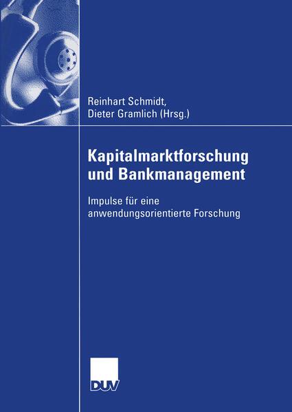 Kapitalmarktforschung und Bankmanagement - Coverbild