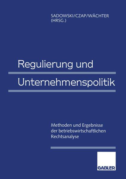 Regulierung und Unternehmenspolitik - Coverbild