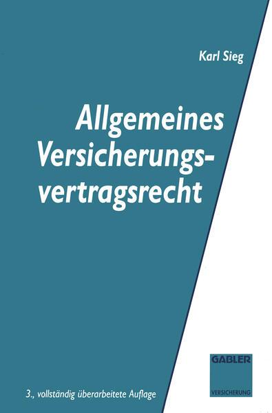 Allgemeines Versicherungsvertragsrecht - Coverbild