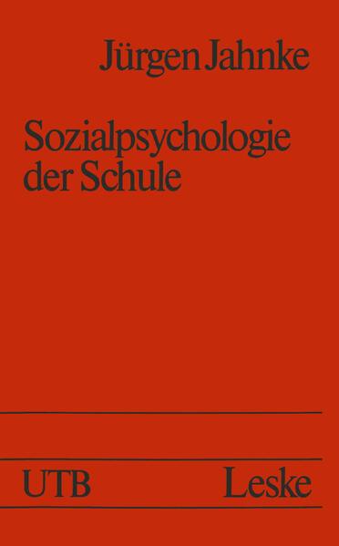 Sozialpsychologie der Schule - Coverbild