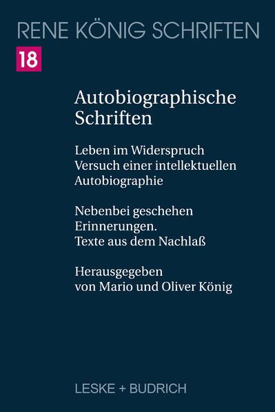 Autobiographische Schriften - Coverbild