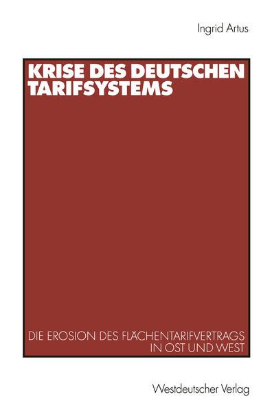 Krise des deutschen Tarifsystems - Coverbild