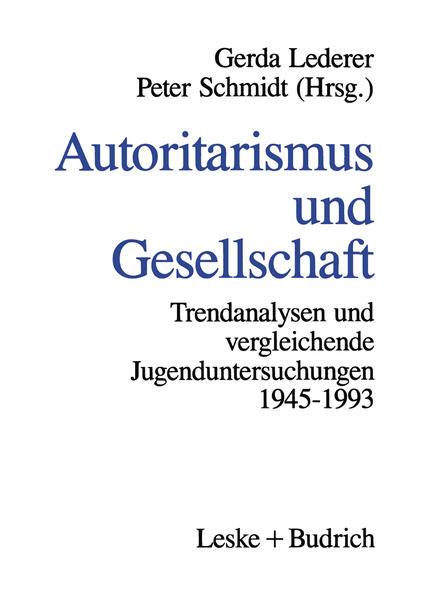 Autoritarismus und Gesellschaft - Coverbild