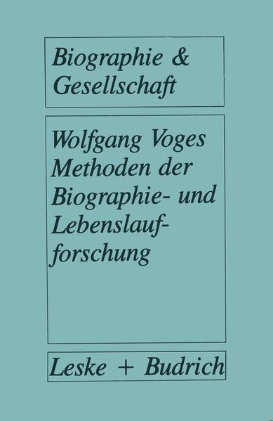 Methoden der Biographie- und Lebenslaufforschung - Coverbild