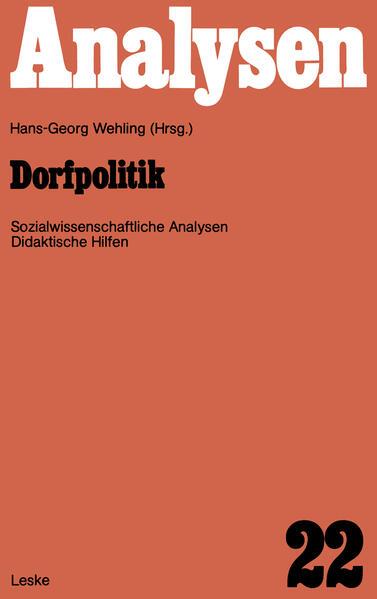 Dorfpolitik - Coverbild