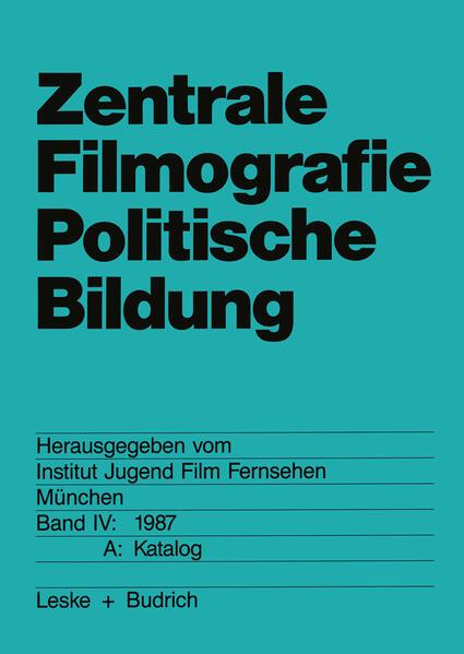 Zentrale Filmografie Politische Bildung - Coverbild