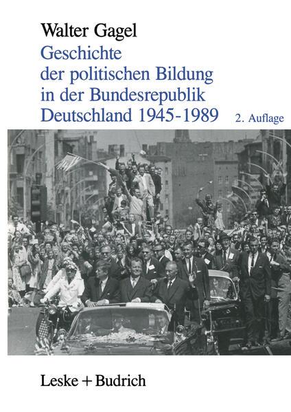 Geschichte der politischen Bildung in der Bundesrepublik Deutschland 1945–1989 - Coverbild