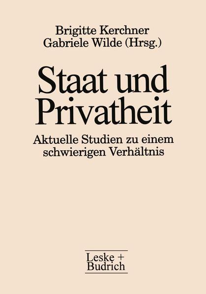 Staat und Privatheit - Coverbild