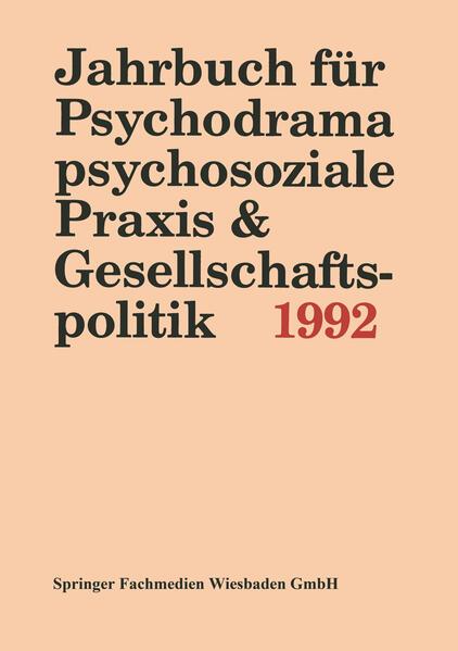Jahrbuch für Psychodrama, psychosoziale Praxis & Gesellschaftspolitik 1994 - Coverbild