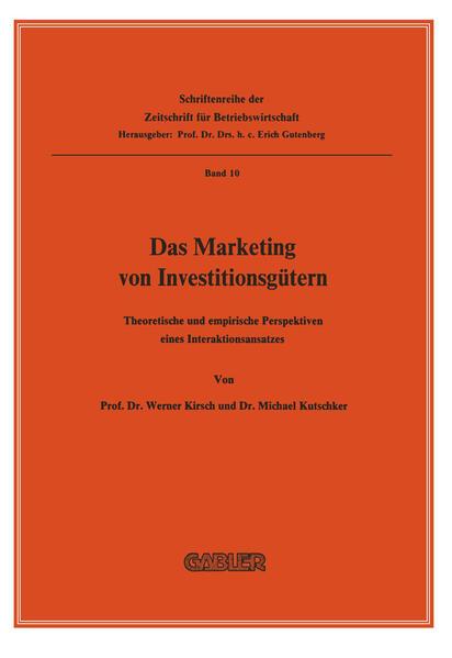 Das Marketing von Investitionsgütern - Coverbild