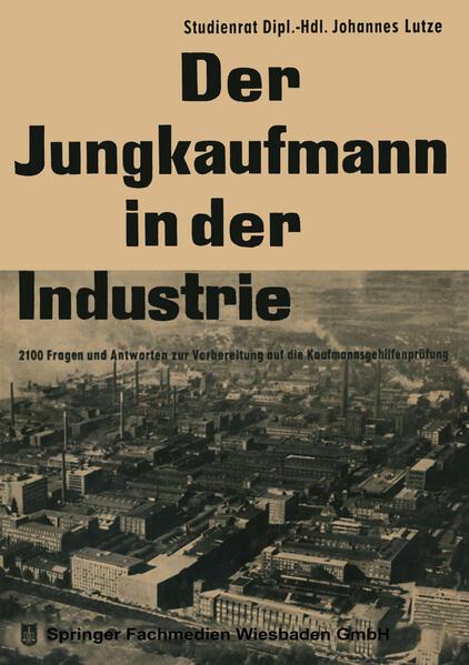 Der Jungkaufmann in der Industrie - Coverbild