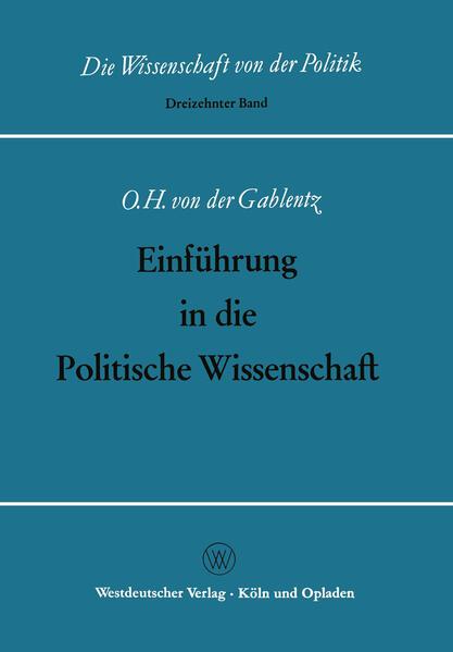 Einführung in die Politische Wissenschaft - Coverbild