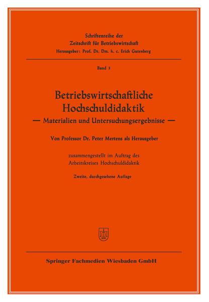 Betriebswirtschaftliche Hochschuldidaktik - Coverbild