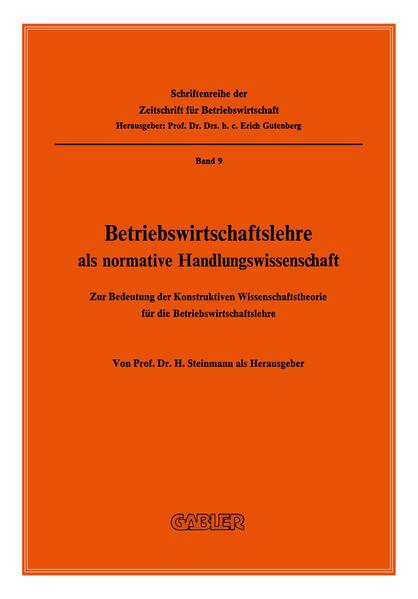 Betriebswirtschaftslehre als normative Handlungswissenschaft - Coverbild