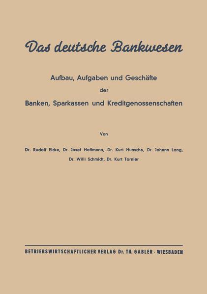 Das deutsche Bankwesen - Coverbild