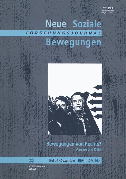 Forschungsjournal Neue Soziale Bewegungen - Coverbild