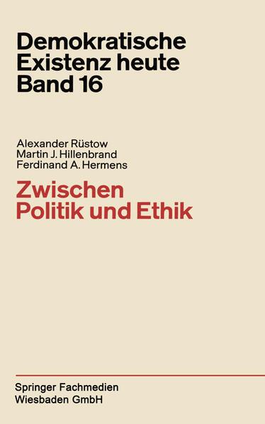 Zwischen Politik und Ethik - Coverbild