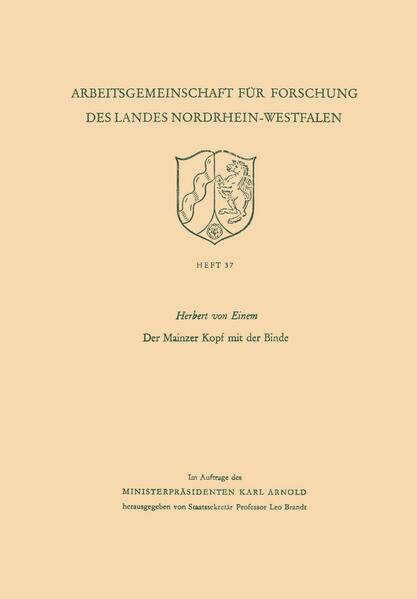 Der Mainzer Kopf mit der Binde - Coverbild