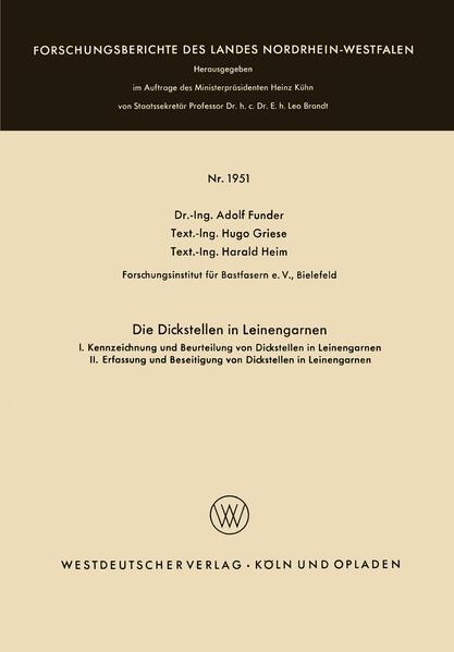 Die Dickstellen in Leinengarnen - Coverbild