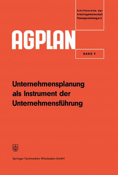 Unternehmensplanung als Instrument der Unternehmensführung - Coverbild