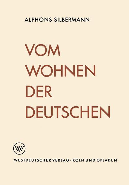 Vom Wohnen der Deutschen - Coverbild