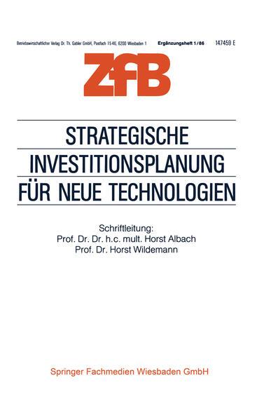 Strategische Investitionsplanung für neue Technologien - Coverbild