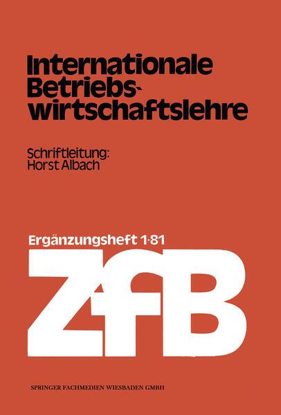 Internationale Betriebswirtschaftslehre - Coverbild