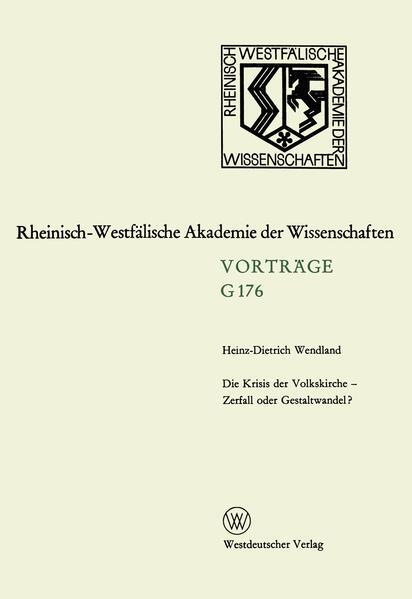 Die Krisis der Volkskirche — Zerfall oder Gestaltwandel? - Coverbild