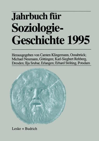 Jahrbuch für Soziologiegeschichte 1995 - Coverbild