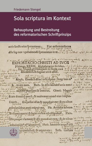 Sola scriptura im Kontext - Coverbild