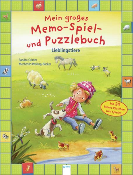 Mein großes Memo-Spiel- und Puzzlebuch. Lieblingstiere - Coverbild