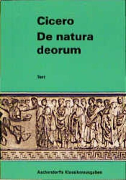 Philosophische Schriften / De natura deorum - Coverbild