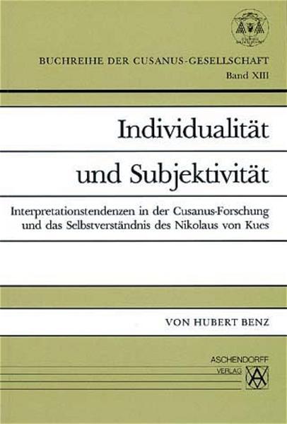 Individualität und Subjektivität - Coverbild