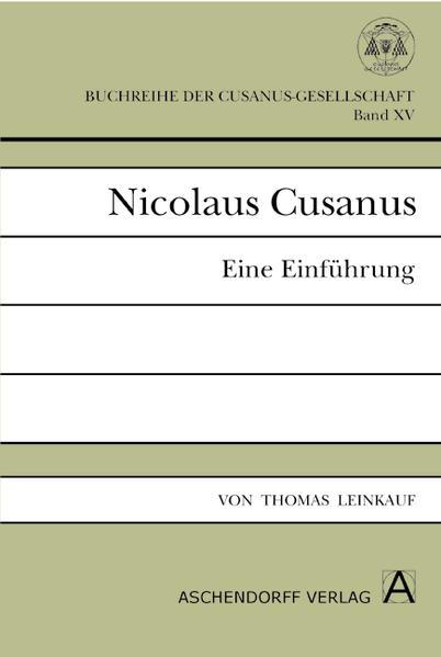 Nicolaus Cusanus - Coverbild