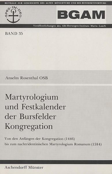 Martyrologium und Festkalender der Bursfelder Kongregation - Coverbild