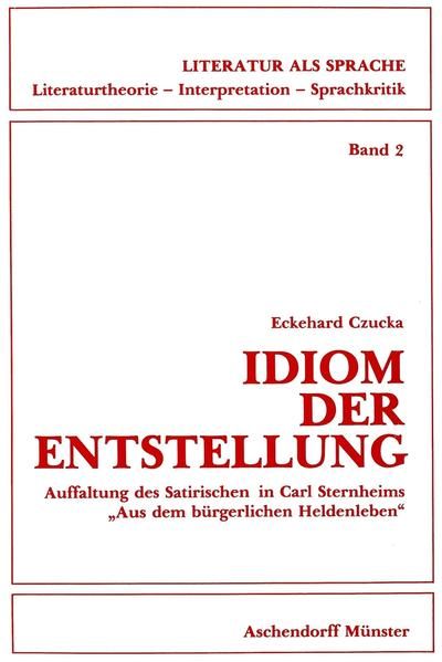 Idiom der Entstellung - Coverbild