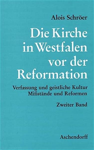 Die Kirche in Westfalen vor der Reformation - Coverbild