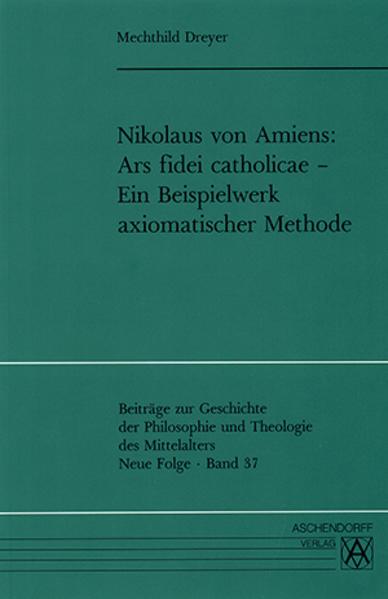 Nikolaus von Amiens - Ars fidei catholicae - Coverbild