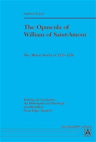 The Opuscula of William of Saint-Amour - Coverbild