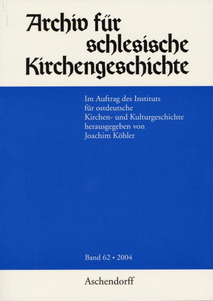 Archiv für Schlesische Kirchengeschichte / Archiv für Schlesische Kirchengeschichte - Coverbild