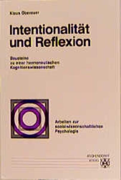 Intentionalität und Reflexion - Coverbild
