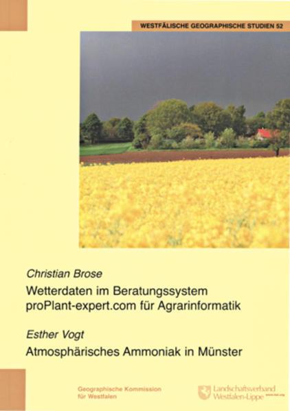 Wetterdaten im Beratungssystem proPlant-expert.com für Agrarinformatik, Atmosphärisches Ammoniak in Münster - Coverbild