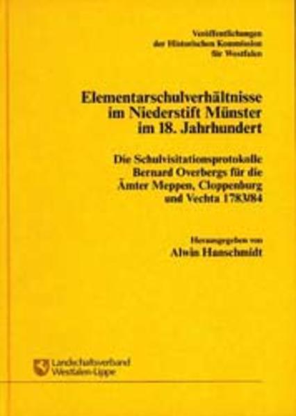 Elementarschulverhältnisse im Niederstift Münster im 18. Jahrhundert - Coverbild