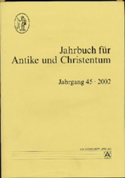 Jahrbuch für Antike und Christentum - Coverbild